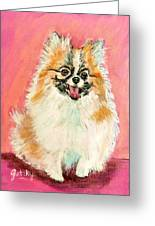 Twinki Gurl Greeting Card by Paintings by Gretzky