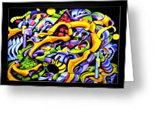 Twisted Blackout Greeting Card by Jason Amatangelo
