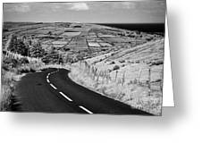 Twisty Country Mountain Road Through Glenaan Scenic Route Glenaan County Antrim  Greeting Card by Joe Fox