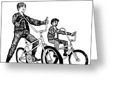 Two Cool Riders Greeting Card by Karl Addison