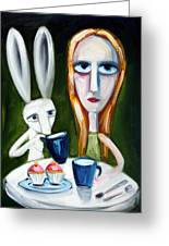 Two Cup Cakes Greeting Card by Leanne Wilkes