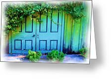 Two Doors Greeting Card by Judi Bagwell