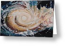 Two Galaxies Colliding Greeting Card by Laara WilliamSen