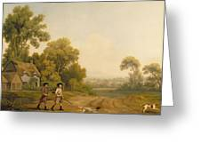 Two Gentlemen Going A Shooting Greeting Card by George Stubbs