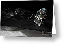 Two Manned Maneuvering Vehicles Explore Greeting Card by Walter Myers