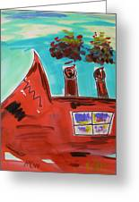 Two Stacks Mini Mill Greeting Card by Mary Carol Williams