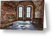 Two Windows Greeting Card by Garry Gay