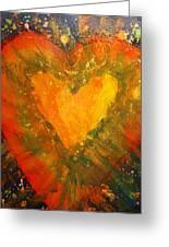 Tye Dye Heart Greeting Card by James Briones