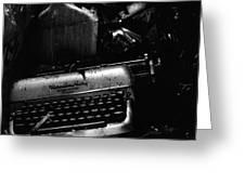 Typewriter Greeting Card by Eric Tadsen
