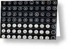 Typewriter Keyboard Greeting Card by Hakon Soreide