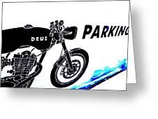 Ubud Motorbike Parking  Greeting Card by Funkpix Photo Hunter