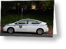Uc Berkeley Campus Police Car  . 7d10181 Greeting Card by Wingsdomain Art and Photography
