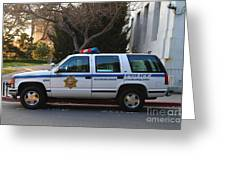 Uc Berkeley Campus Police Suv  . 7d10182 Greeting Card by Wingsdomain Art and Photography