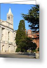 Uc Berkeley . Sather Tower Campanile . Wheeler Hall . South Hall Built 1873 . 7d10040 Greeting Card by Wingsdomain Art and Photography
