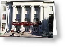 UC Berkeley . Sproul Hall . Sproul Plaza . Occupy UC Berkeley . 7D9991 Greeting Card by Wingsdomain Art and Photography