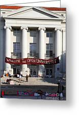 Uc Berkeley . Sproul Hall . Sproul Plaza . Occupy Uc Berkeley . 7d9992 Greeting Card by Wingsdomain Art and Photography
