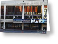 UC Berkeley . Zellerbach Hall . 7D9989 Greeting Card by Wingsdomain Art and Photography