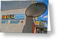Ufo Crash Greeting Card by Gregory Dyer