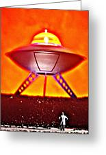 UFO Greeting Card by L S Keely