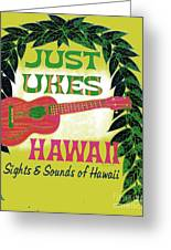 Ukelele Love Greeting Card by Beth Saffer