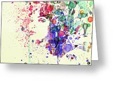 Uma Thurman Greeting Card by Naxart Studio