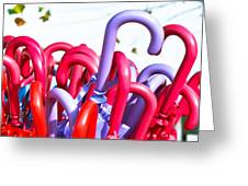 Umbrellas Greeting Card by Tom Gowanlock