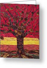 Un Rooted Autumn Greeting Card by Claudia French
