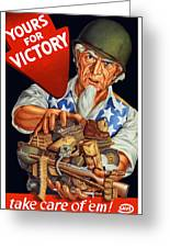 Uncle Sam Yours For Victory Greeting Card by War Is Hell Store