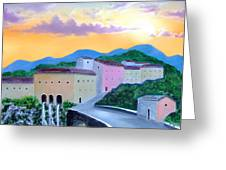 Under The Tuscan Sun Greeting Card by Larry Cirigliano