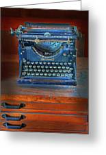 Underwood Typewriter Greeting Card by Dave Mills
