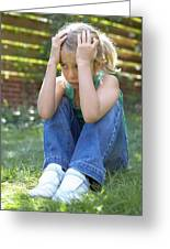 Unhappy Girl Greeting Card by Ian Boddy