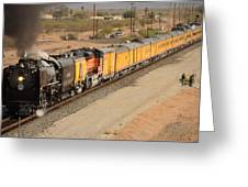 Union Pacific Grand Canyon State Steam Special Train Picacho Arizona November 15 2011 Greeting Card by Brian Lockett
