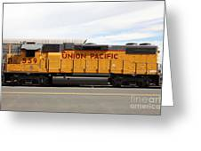 Union Pacific Locomotive Train - 5d18648 Greeting Card by Wingsdomain Art and Photography