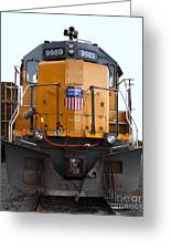 Union Pacific Locomotive Trains . 7d10589 Greeting Card by Wingsdomain Art and Photography