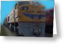 Union Pacific X 18 Train Greeting Card by Thomas Woolworth