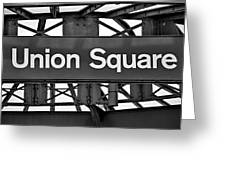 Union Square  Greeting Card by Susan Candelario