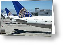 United Airlines Jet Airplane At San Francisco Sfo International Airport - 5d17110 Greeting Card by Wingsdomain Art and Photography