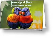 Universal Law Greeting Card by Shaboo Prints
