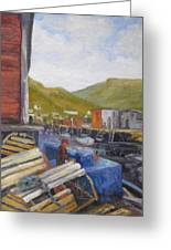 Unloading Greeting Card by M J Weber