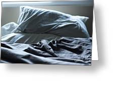 Unmade Bed Greeting Card by Sam Bloomberg-rissman