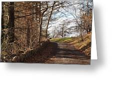 Up Over The Hill Greeting Card by Robert Margetts
