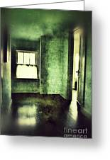 Upstairs Hallway In Old House Greeting Card by Jill Battaglia