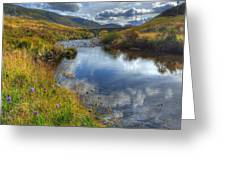Upstream To The Bridge Greeting Card by John Kelly