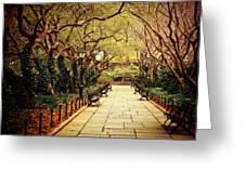 Urban Forest Primeval - Central Park Conservatory Garden In The Spring Greeting Card by Vivienne Gucwa