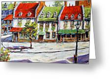 Urban Montreal Street By Prankearts Greeting Card by Richard T Pranke
