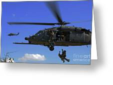 U.s. Air Force Pararescuemen Greeting Card by Stocktrek Images