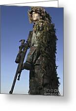U.s. Air Force Sharpshooter Dressed Greeting Card by Stocktrek Images