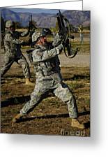U.s. Air Force Soldier Practices Greeting Card by Stocktrek Images