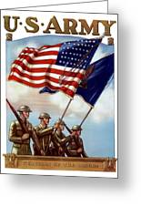 Us Army Guardian Of The Colors Greeting Card by War Is Hell Store