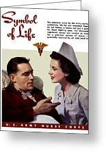 Us Army Nurse Corps Greeting Card by War Is Hell Store